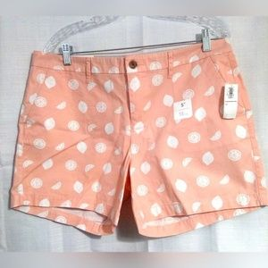 Old Navy Women's Shorts Sz 12 Peach With Lemons